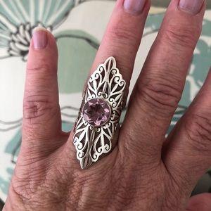 Jewelry - Sterling Silver Pink Quartz Ring Sz 8